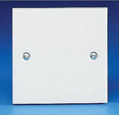 White Blanking Plate / Face Plate 1 Gang Square Plate & Screws Select Up To 10 - Gang Faceplate