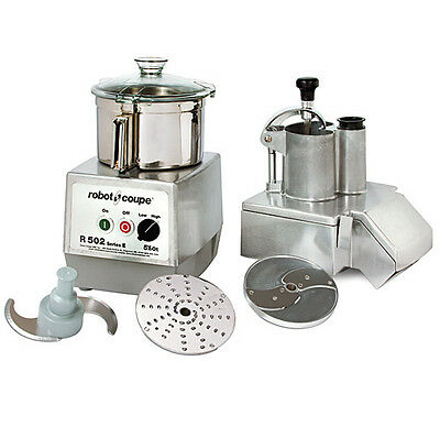 Robot Coupe R502 Combination Continuous Feed Food Processor W 5.5 Qt. Ss Bowl