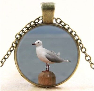 """SEAGULL BIRD mom women pendant charm 20"""" necklace mother FREE $10 GIFT R1337"""