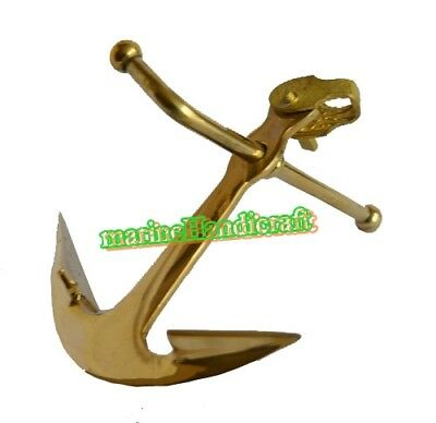 A Great Gift for Men Solid Brass Nautical Anchor Design Paperweight