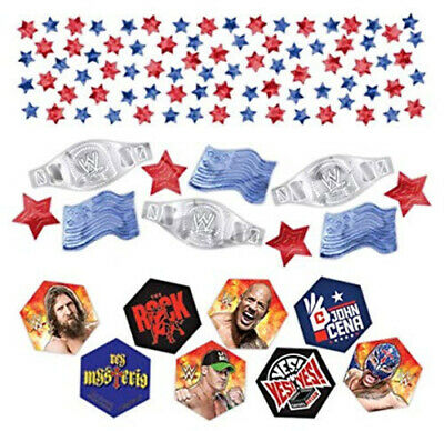 WWE Happy BIRTHDAY party supplies  table CONFETTI 1 pack w/3 types wrestling - Wwe Supplies