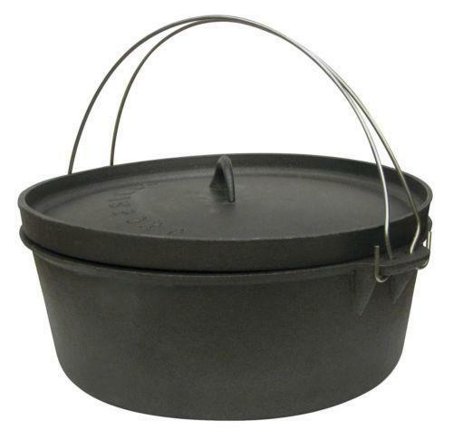 Camping cookware cast iron ebay for Cast iron skillet camping dessert recipes