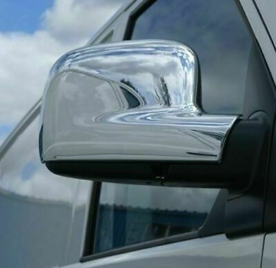 VW T5 Transporter 2003-2010 Chrome Mirror Cover 2pieces Stainless Steel (Rhd)
