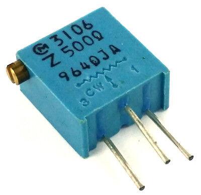 500 Ohm Trimmer Potentiometer Trimpot Variable Resistor 3106z Murata 10 Pcs