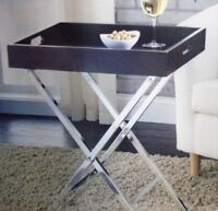 NEW: HOME TRENDS Folding Tray Table (Espresso Color)