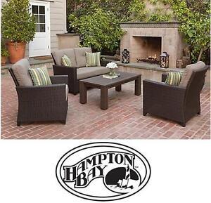 NEW* HAMPTON BAY TACANA PATIO TABLE - 114713321 - OUTDOOR DINING SET