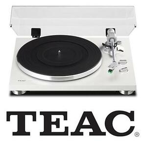 NEW TEAC ANALOG TURNTABLE BUILT IN PHONO PRE-AMPLIFIER AND USB DIGITAL OUT - WHITE AUDIO STEREO MUSIC DJ 107843798