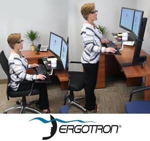 NEW ERGOTRON WORKFIT-S DUAL WITH WORKSURFACE+ 33-349-200 188706793 DESK - SITTING/STANDING WORKSTATION