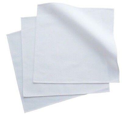 Small 100% Organic Cotton White Men's Handkerchiefs - Set of 3, USA made
