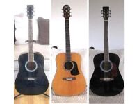 3 Acoustic Guitars, All In Good Condition.