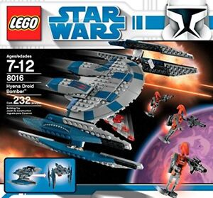 LEGO Star Wars 8016 Hyena Droid Bomber, NEW, factory sealed