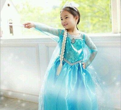 Frozen Elsa Costume Dress - size 7/8 Ships from