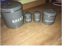 Grey kitchen canisters