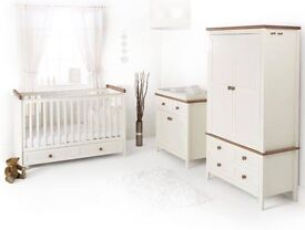 2012 Silver Cross Porterhouse changing table (can be used just as a dresser) and wardrobe