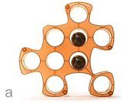 Orange Jigsaw/ puzzle piece wine rack