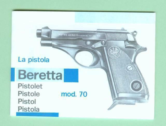 Beretta Model 70 71 72 73 74 75 Owners Manual Reproduction