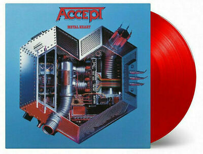 ACCEPT - METAL HEART- Limited Numbered Transparent Red 180gram Audiophile Vinyl
