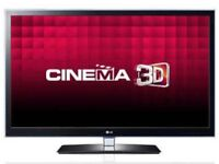 "LG 42"" Full HD 3D TV - 400 HZ - Great Condition, hardly used with 7 x 3D Glasses - 42LW450U"