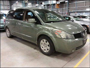 2005 NISSAN QUEST 3.5S  -FRESH SAFETY/7 PASSENGER - ONLY $4599