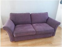 DFS 3 seater sofa Purple / Aubergine