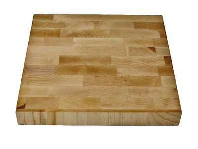 Maple wood End Grain Utility Cutting Board- Chopping board 8 x 8 x 1'' (Maple Wood Chopping Board)