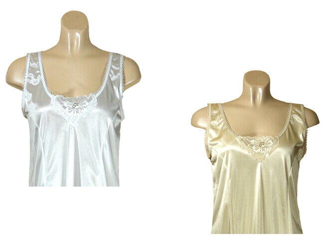 2 Damen Unterkleider Unterröcke weiß und Hautfarben Gr. 48/50 - Neu