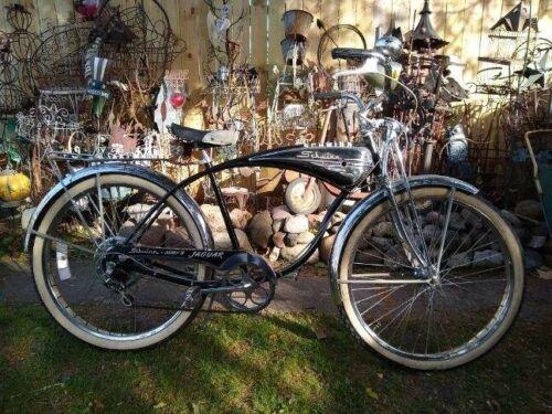 Vintage Schwinn B-6 Autocycle Phantom Springer Bicycle Horn Tank Drum Brake Bike (Used - 6500 USD)