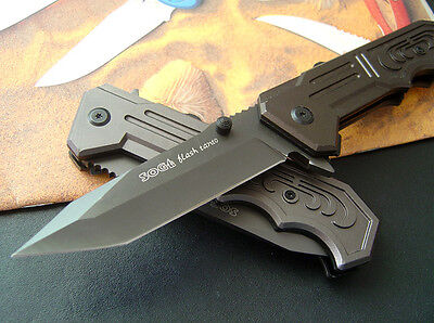 Assisted Opening SOG Knife Tactical Rescue Camping Folding Pocket Saber Gift ()