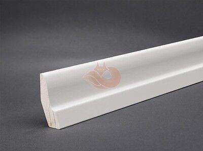 Sockelleisten Weiß 25mm x 52mm Bodenleisten Fußleisten Massivholz weiß 6,80€/lfm