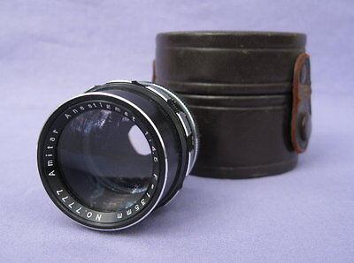 Vintage Amitar Anastigmat 135mm f/4.5 Lens w/ Case