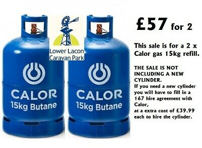 2 x 15kg CALOR GAS Butane Bottle Refill (COLLECTION ONLY,OPEN 7 DAY) £57