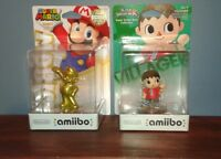Brand New Amiibos: Gold Mario and UK Edition Villager