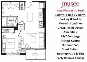 Spacious 1+Den In The Heart Of The Trendy Fashion District!