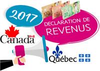 Déclaration de revenu 2017