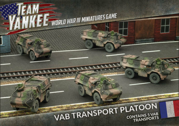 Team Yankee French VAB Transport Platoon Battlefront Models TFBX03