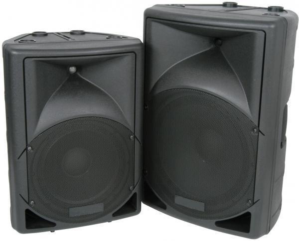 QTX 178.565 500 Watt QS Series Active Moulded Speaker Cabinet Monitor Speaker