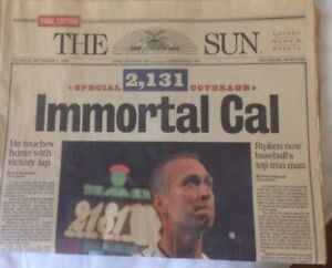 CAL RIPKEN BALTIMORE SUN