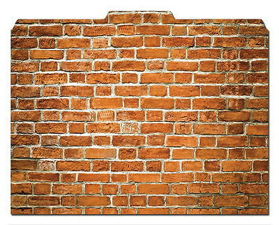 File-n Style Folders - Brick Pattern - Cool School Studios - Set Of 12