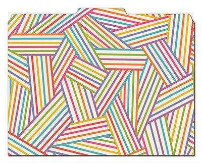 File-n Style Designer Folders - Weave - Cool School Studios - Set Of 12