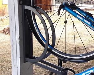 Single Wall Unit Vertical Bike Rack-Unique Bike Parking Solution