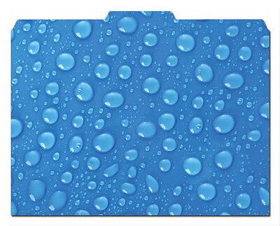 File-n Style Folders - Blue Drops - Cool School Studios - Set Of 12