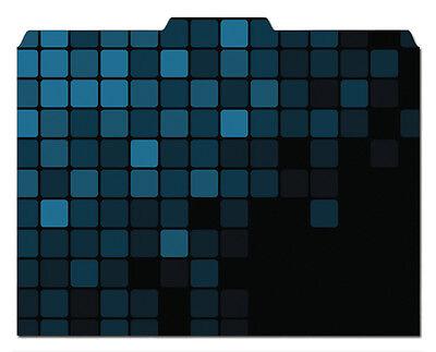 File-n Style Folders - Multi-pattern Blue - Cool School Studios - Set Of 12