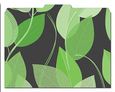File-n Style Folders - Green Leaves - Cool School Studios - Set Of 12