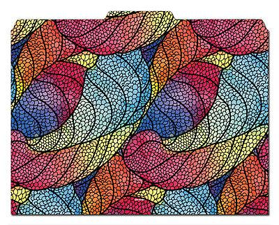 File-n Style Folders - Leaf Pattern - Cool School Studios - Set Of 12
