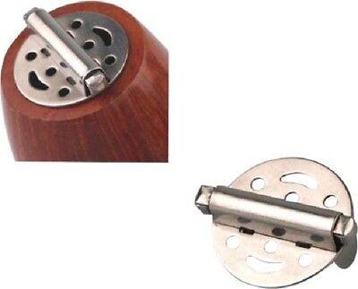 Pfeifendeckel Metall mit Feder 25 mm NEU
