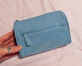 Makeup bag cosmetic bag wash bag jewellery holder travel bag blue girls ladies