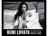 Demi Lovato Tickets x2 Manchester Arena & Hotel 16.06.18