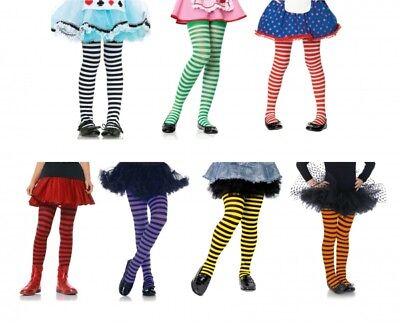 Striped Tights For Kids (Children's Striped Tights for Girls Kids Hosiery Lots of Size & Color)
