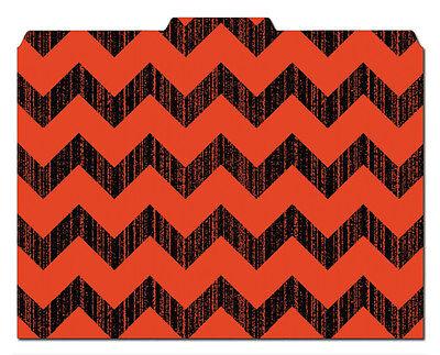 File-n Style Folders - Chevron Print - Cool School Studios - Set Of 12