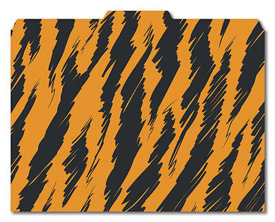 File-n Style Folders - Tiger Print - Cool School Studios - Set Of 12